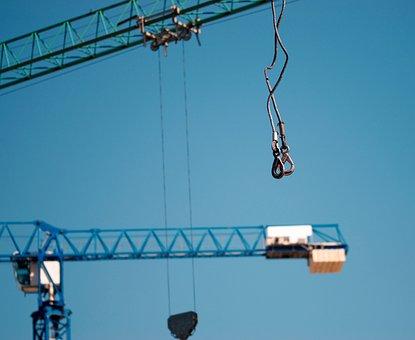 Hooks, Crane, Equipment, Construction, Cranes, Sky