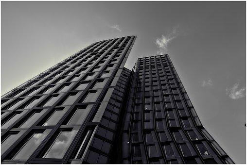 Hamburg, Dancing Towers, Mirroring