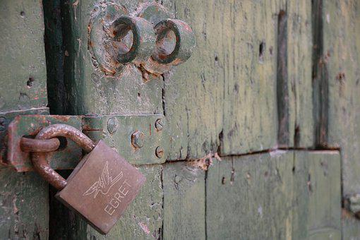 Lock, Wood, Door, Closed, Key, Security, Entrance, Safe