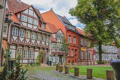 Braunschweig, Downtown, Truss, Fachwerkhaus, House