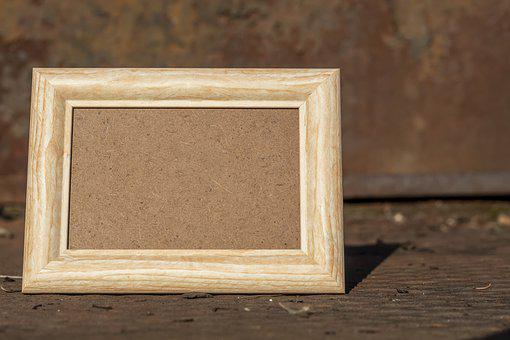 Frame, Wood, Empty, Rust, Rusty, Metal, Picture