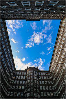 Top, Courtyard, Sky, View, Blue, Overview, High