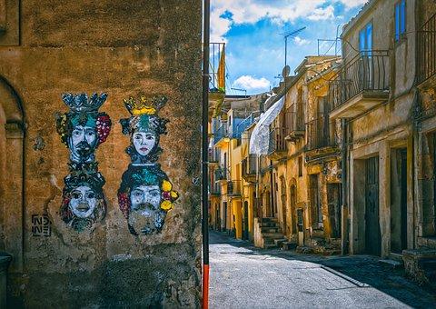 Sicily, Alley, Italy, Historic Center, Mediterranean