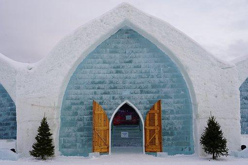 Ice Hotel, Ice Hotel Quebec, Ice Bar, Blue Hotel