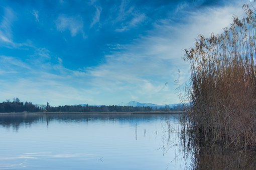 Landscape, Chiemgau, Chiemsee, Lake, Idyll, Mountains