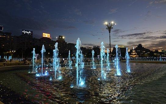 Landscape, Urban, Night, In The Evening, Wells