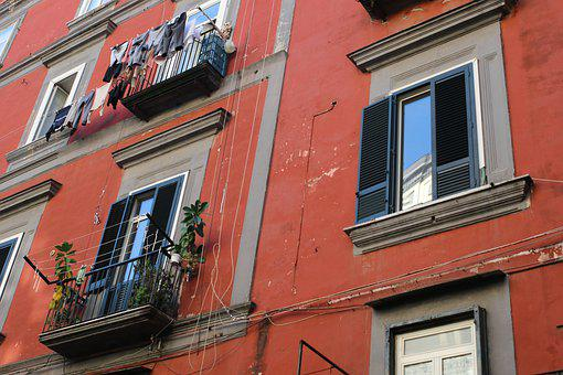 Naples, Italy, Architecture, Buildings, Laundry