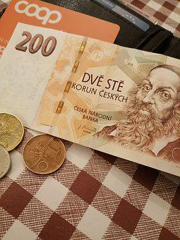 Money, Banknote, Coin, Card, Wallet, Brown Money
