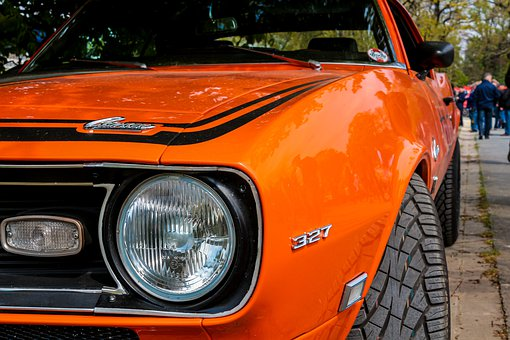 Muscle Car, American, Car Classic, Orange, Rarity, V8