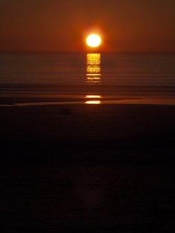 Harlech, Sunset, Sundown, Nature, Scenery, Peaceful