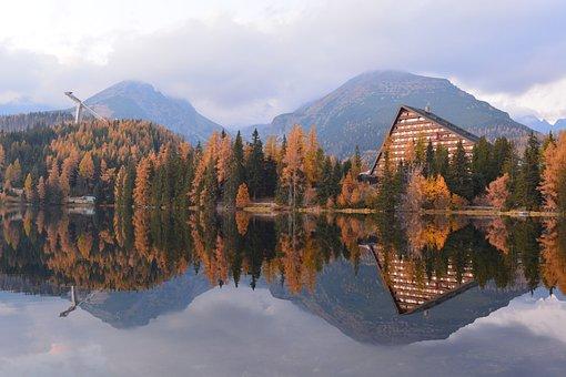 Strba Tarn, Slovakia, Mountains, Nature