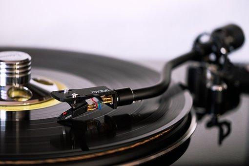 Plate, Turntable, Record, Vinyl, Tonearm, Pickup, Music