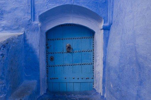 Door, Portal, Goal, Input, Gate, Architecture, Blue
