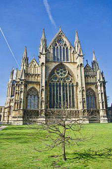 Cathedral, Spires, Lincoln, Architecture, Landmark
