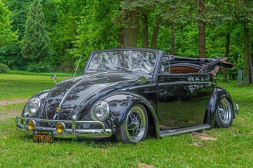 Volkswagen, Vw, Beetle, Convertible, Oldtimer, Restored