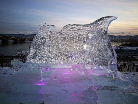 Ice Sculpture, Sculpture, Winter, Snow, Landscape