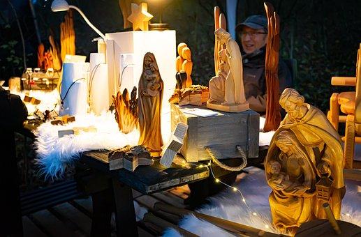 Christmas Market, Wood Carvings, Holzfigur, Christmas