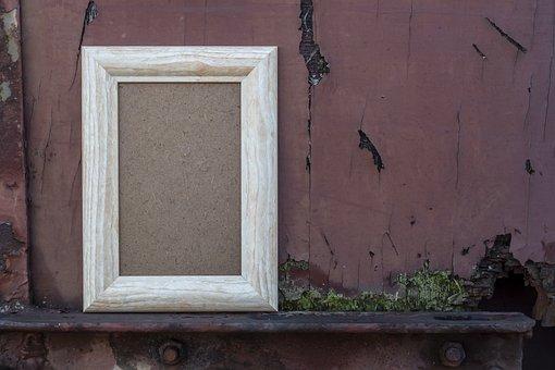 Empty, Wood, Wooden, Frame, Rust, Metal