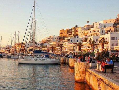 Port, Yachts, Historic Center, City, Naxos, Island
