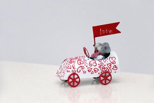 Valentine's Day, Love, Valentine, Greeting, Mice, Auto