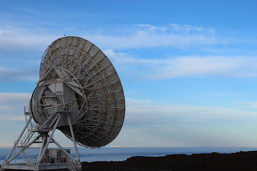Radio Telescope, Hawaii, Mauna Kea, Blue Radio
