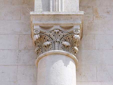 Pillar Of Stone, Ornament, Building