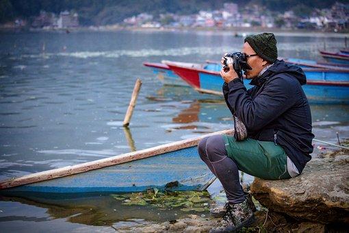 Photographer, Street, Man, Camera, Summer, Dslr