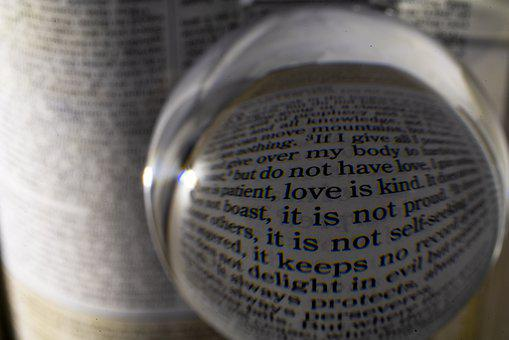 Bible, Love, Magnify, Perspective, Christianity