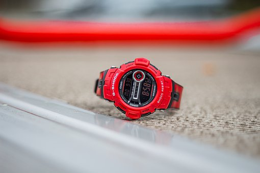 G-shock, Gd-400-4dr, Casio, Clock, Wrist Watch