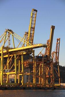 Shipyard, Crane, Port, Industry