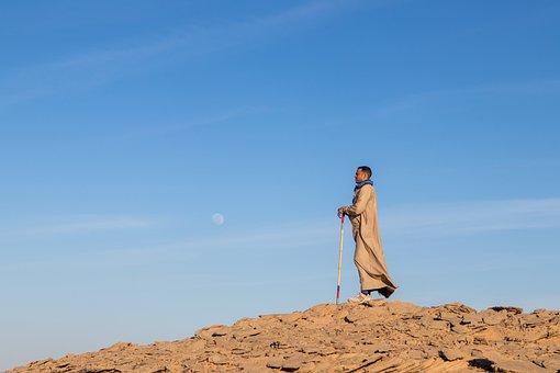 Desert, Man, Exploring, Adventure, Moon
