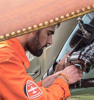 Plane, Engine, Biplane, Airplane, Engineering, Display