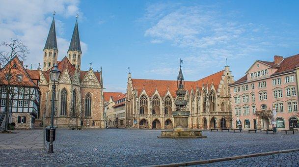 Braunschweig, Old Town Market, Downtown, Lion City