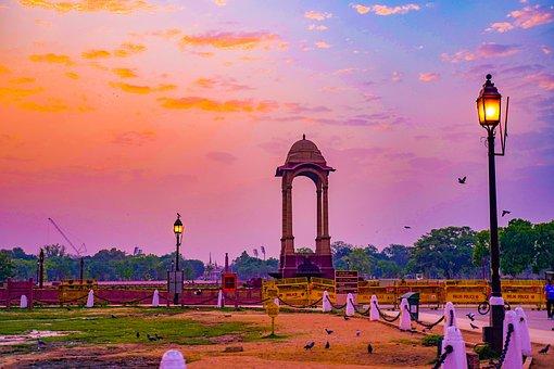 Travel, Delhi, Gate, Culture, Stone, War, Famous