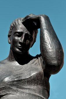 Statue, Woman, Sculpture, Female, Artwork, Girl, Face
