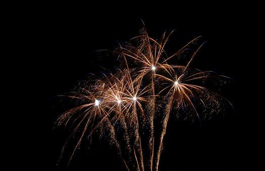 Fireworks, Light, Celebration, At Night, Pyrotechnics