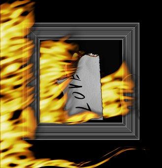Framework, Fire, Flame, Decorative