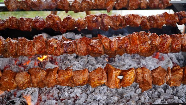 Spit Roast, Grill, Meat, Fry, Spit, Turn, Roast Pork