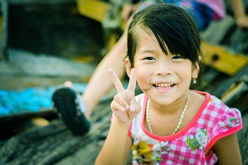 Kids, Children, Beach, Smile, Young