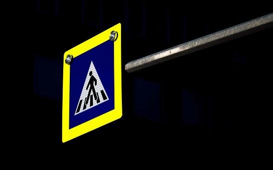 Indicator, Pass, Pedestrians, Lit, Night, Mark, Street