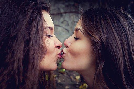 Kiss, Love, Valentine's Day, Women, Lesbian, Bisexual