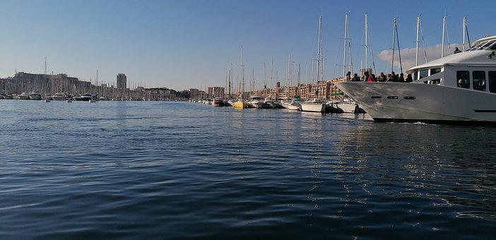 Marseille, Water, Nautical Vessel, Sea