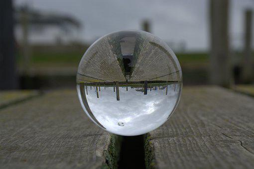 Glass Ball, Spherical Photography, Mirroring, Ball