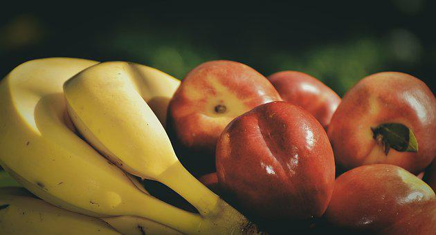Bananas, Nectarines, Fruit, Vegetarian, Delicious