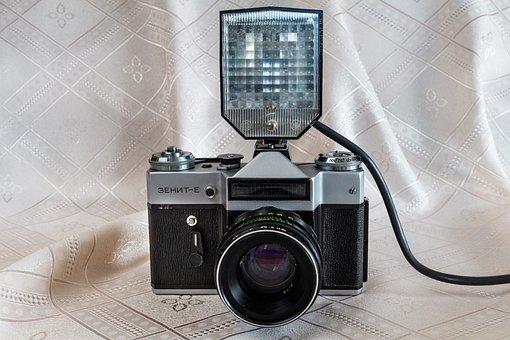 Camera, Lens, Flash, Retro, On-camera Flash, Gate
