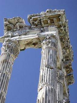 Ruin, Antique, Architecture, Columnar, Pergamon, Greek