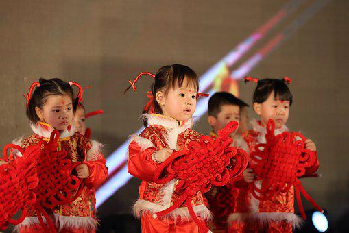 Children, China, Dance, Chinese Knot, Cute, Red