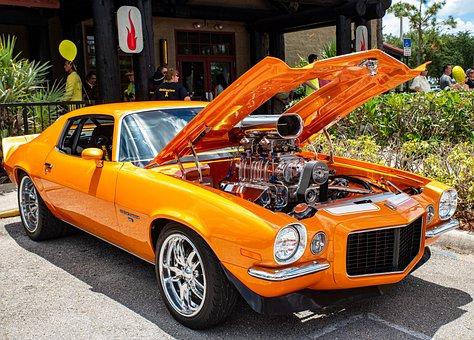 Camaro, Chevy, Hotrod, Chevrolet, Retro, Transportation