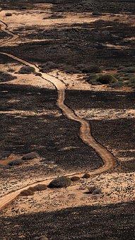 Path, Desert, Landscape, Nature, Sand