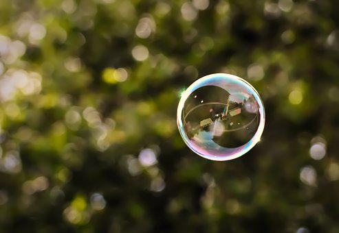 Soap Bubble, Flying, Colorful, Ease
